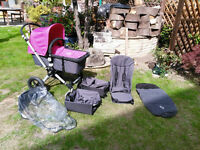 Bugaboo Cameleon Pram/stroller with accesories