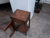 VINTAGE RETRO KITSCH BEDSIDE TABLE EDWARDIAN ERA IDEAL SHABBY CHIC / UP CYCLE IN YEOVIL