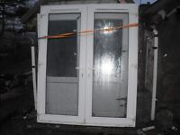 Door French PVC Double Glazed for Sale