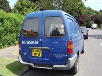 Nissan Vannette Cargo Van, M.O.T until jan 2019. Good reliable work vehicle