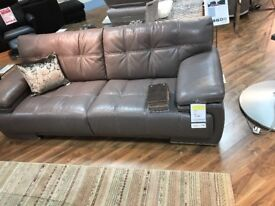Leather 3 + 2 sofa excellent condition!