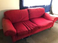 Red Fabric Sofa