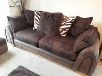 3 Seater Sofa, Arm Chair and Foot Stool