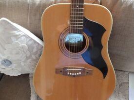 Vintage 1970s Eko Ranger 6 acoustic guitar natural Chitarra Originale