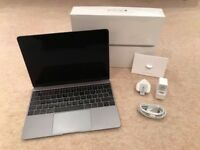 Apple macbook 12 256 8GB Space grey - box and charger