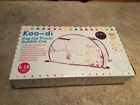 Koo-di pop up travel cot