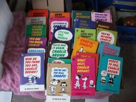 20 snoopy paper back books