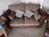 Nice 2 piece sofa and chair with foot stool