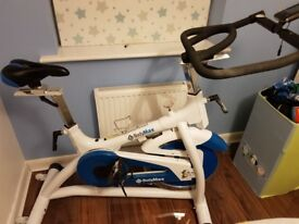 Bodymax indoor spinning bike with LCD screen