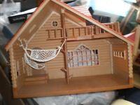 Sylvanian family Houses, caravan , Canel boat , school etc