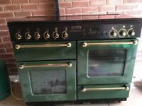 Rangemaster cooker and full size extractor hood