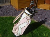 Set of Ladies/Girls golf Clubs, Inc Bag,Stand,Glove,Rulebook,ball cleaner,Ball marker,Tees and Balls