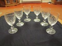 Lead Crystal Sherry Glasses