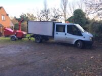 Wood chipper for hire with operator in Hertfordshire, Essex & N. London area