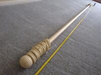Curtain Poles in light cream colour 2 poles matching, 8ft long & 10ft 5inches long.
