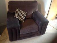 3, 2, 1 sofa and footstool