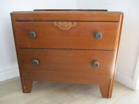 Vintage/antique chest with two drawers.
