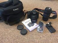 Canon DSLR 600D plus lenses and camera bag