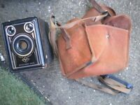 A c1930s AGFA SYNCHRO BOX CAMERA WITH CASE