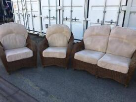 Cane furniture suite. Can possibly deliver locally.