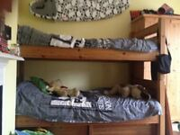 Large Solid Pine Bunk Beds Without Ladder But With Underbed Storage