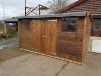 shed heavy duty workshop 14x9 hi-pex shiplap cladding