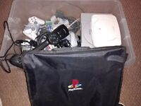 PS1 consoles, controllers, cables & accessories