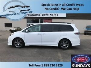 2014 Toyota Sienna SE 8 SEATER! DVD! SUNROOF! FINANCE NOW!