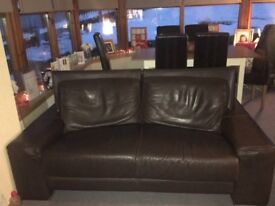 Brown leather sofa for sale 3+2