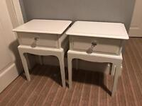 Annie Sloan stag minstrel old white shabby chic bedside table cabinets