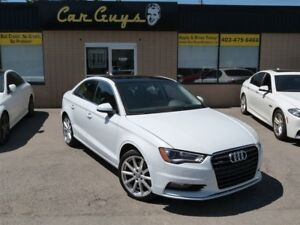 2015 Audi A3 2.0T Quattro - H. Leather, Moonroof, Bluetooth
