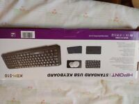 Standard HiPoint USB Keyboard. New never taken out of box.