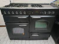 Rangemaster Classic Noir 110 All Gas Cooker in Black 110CM