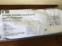Mothercare Moses Basket Foam mattress - New