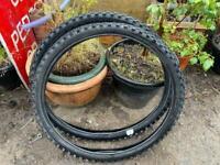 "Used bike tyres x 2 26"""
