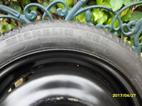 v.w. mitchelin spare wheel and tyre .