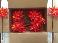 Christmas crafts / floristry artificial Poinsettas - Brand New