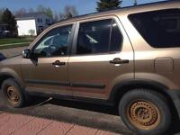 2002 honda crv with picnic table pull out