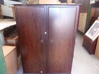 Dark wood Double Wardrobe Delivery Available