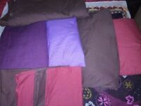 Bedsheets, duvet covers and pillow cases