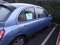 Nissan Micra 2004. Very Nice. Drives perfectly. A/C not working though. Only £500!!