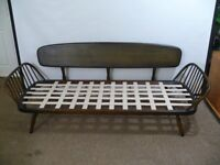 Retro Vintage Ercol Windsor Solid Elm & Beech Studio Couch Day Bed Sofa 60s 70s