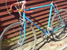 Vintage mans racing cycle