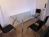 Alamo Glass Dining Table and 6 Chairs