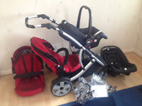 Travel System Double Buggy (Twin Stroller)