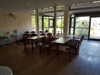 cafe tables and chairs fixed modular seating