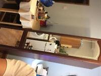 Single mahogany stand alone wardrobe