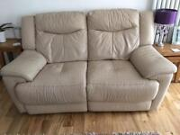 Leather sofa's with electric recliners