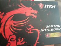 MSI GAMING LAPTOP used twice, as new