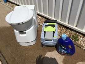 Dometic Chemical toilet with spare cassette, caravan, camper, boat.